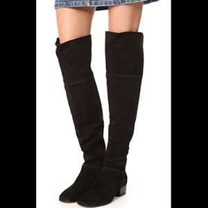 Joie Reeve Over Knee Suede Boots Size 39